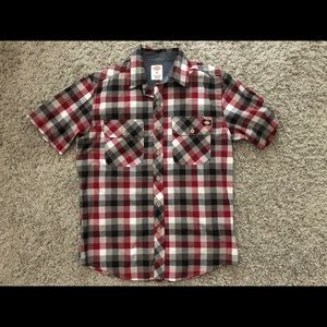 Dickies Checkered Print Short Sleeve Button Down